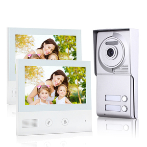 2 apartments door entry wired video intercom systems doorbell intercom phone with 7 inch monitors