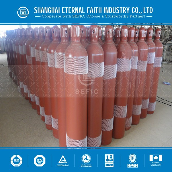 TPED ISO9809 Seamless Steel Gas Cylinder Medical N2O Gas Cylinder Used Oxygen Tanks