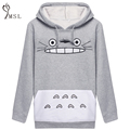 2016 Spring and Autumn Totoro Sweatshirts Women Hoodies Suit Cartoon Print Patchwork Pullover with Pockets