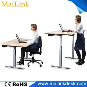 simple design office furniture modern wooden sit standing table