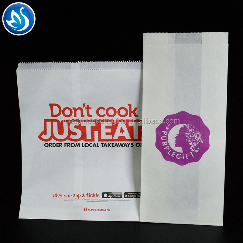 Colourful customized disposable paper food bag,food paper bag