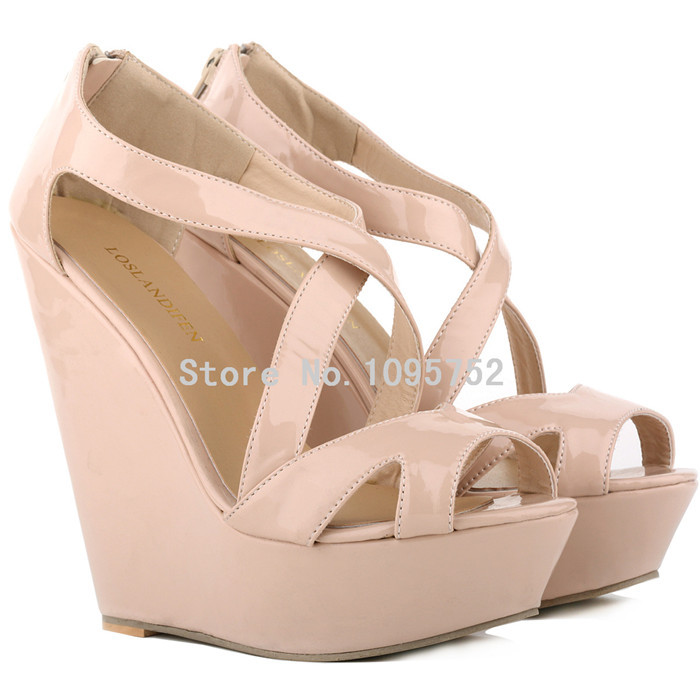8e7bb18586efea Buy NUDE COLOR WOMENS LADIES FAUX SUEDE PLATFORM PEEPTOE HIGH WEDGES HIGH  HEEL SHOES in Cheap Price on Alibaba.com