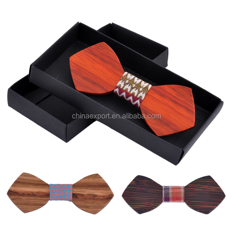 Mens Wooden Bow Tie Groomsmen Gifts Bowties