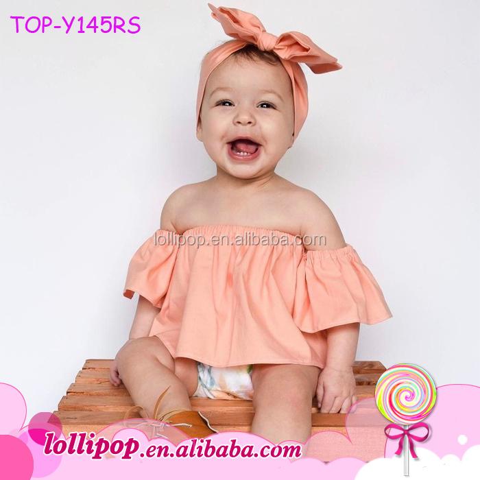 51feac545817 Kids Denim Jeans Tops Baby Girls Clothing Pullover Falbala Off Shoulder  Crop Tops Flutter Sleeve T