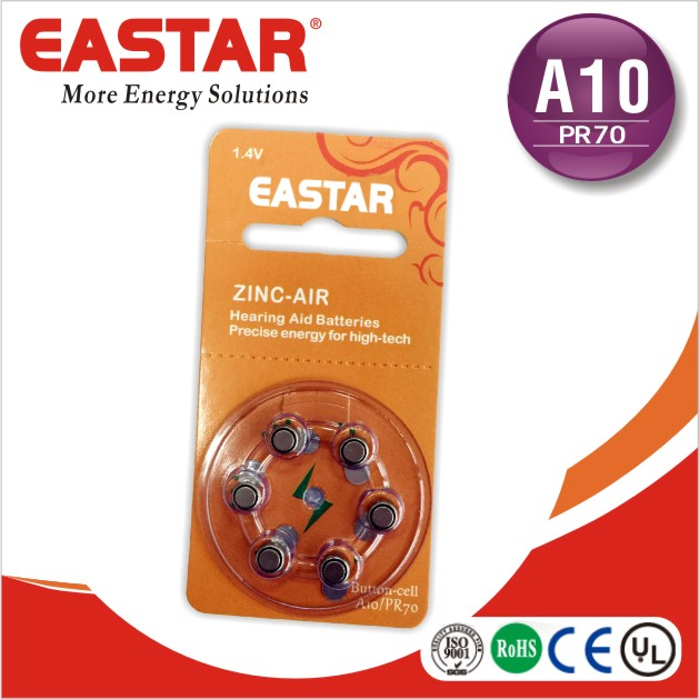 1.4V hearing aid batteries A10 zinc air button cell For Deaf aid/audiphone/hearing amplifier