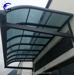 100% new bayer material polycarbonate cover modern outdoor window awnings