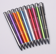 popular huahao pen blue/green/white/black/silver/red/customized promotional metal pen