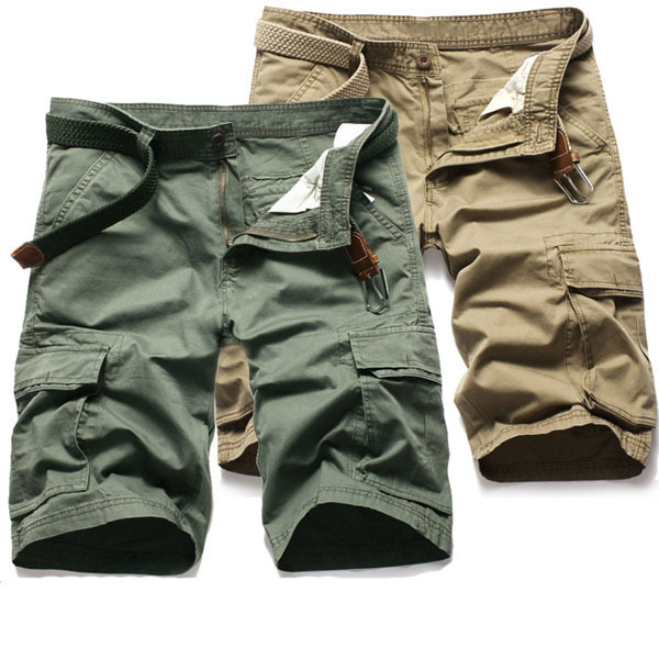 Wholesale cheap mens 3/4 6 pocket military wholesale cargo shorts ...