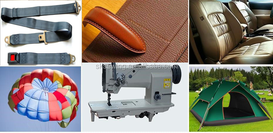 heavy duty material 4420 lockstitch double needles sewing machine for leather shoes luggage