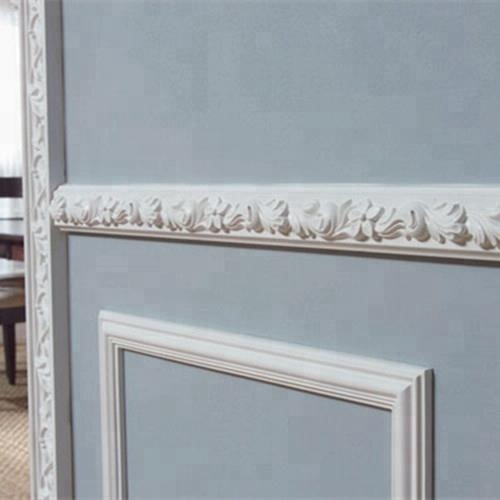 plastic polyurethane home decor big wainscot molding