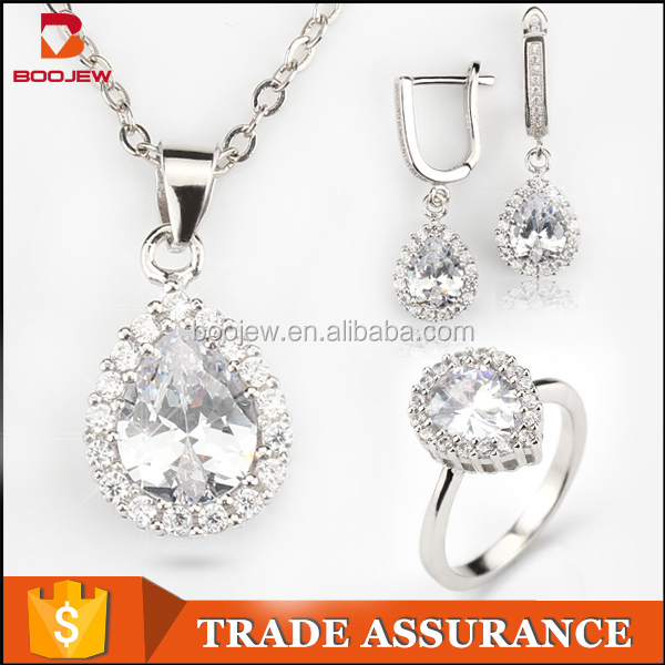 Jewelry set in latest design value 925 silver jewelry set made in China