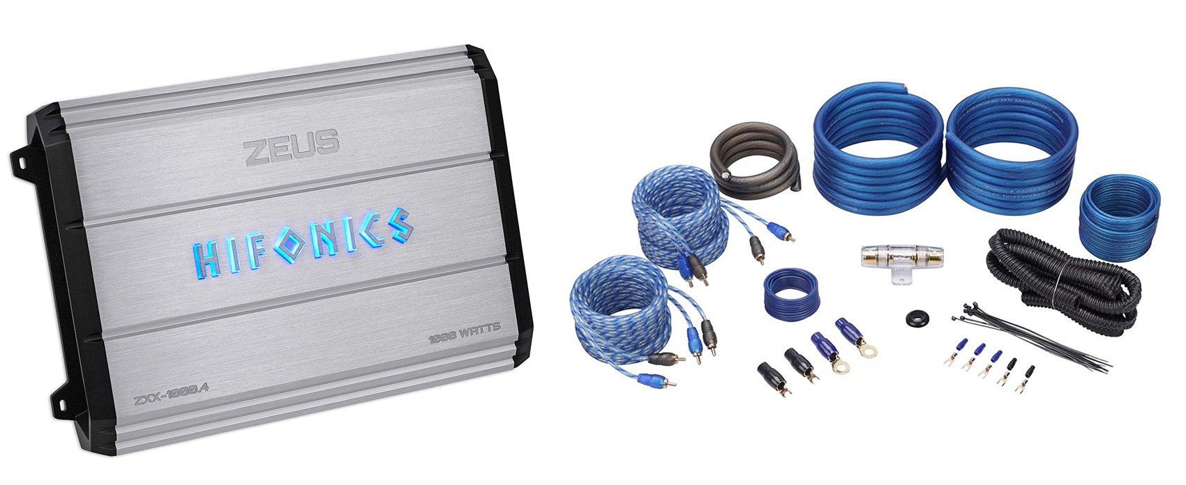 New Hifonics Zeus ZXX-1000.4 1000w RMS 4-Channel Car Amplifier Class AB+Amp Kit