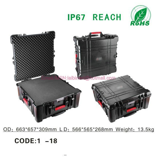 Portable sealed waterproof Military weapon hard <strong>case</strong> security safety equipment Transportation box ,<strong>plastic</strong> <strong>case</strong> with handle