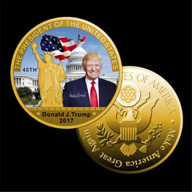 trump 2020 Customized High Quality 3D Metal Challenge Coin / US President Donald trump collectible coin