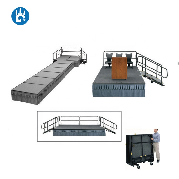 Rental modern platform outdoor wedding party folding adjustable mobile <strong>stage</strong> for events