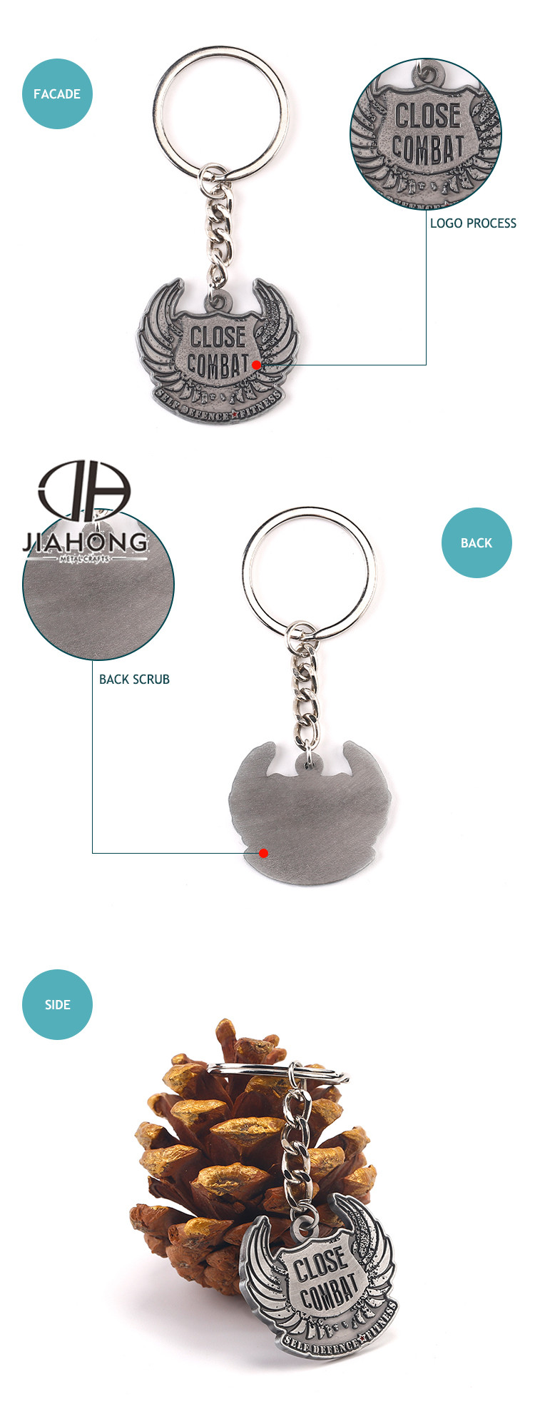Compact keyring/ key holder/ key chain helmet with logo