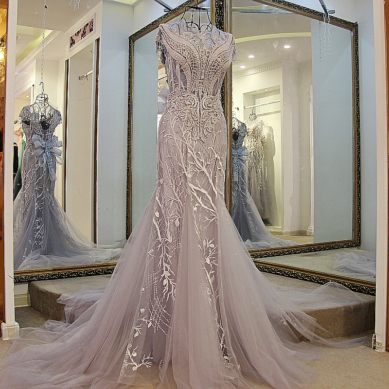 2c9ee2a4ae86 MEMF02 Sexy Luxury Heavy Handed Beads and Crystal Bling Mermaid Arabic  Middle East Style Prom Dresses
