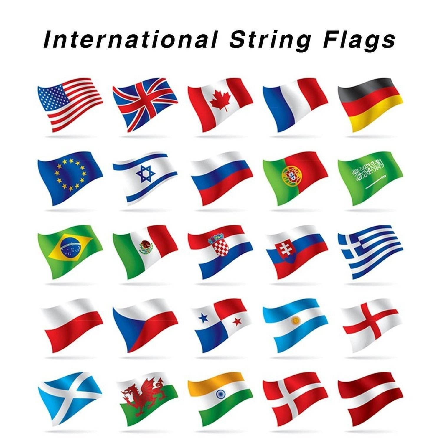 International Country String Flags,PortableFun 32 Countries Flags Pennant Banner For Grand Opening,Olympics,Bar,Party Decorations,Sports Clubs,Restaurants,Festival,etc - 30 Feet 8.2''x5.5''(LxW)