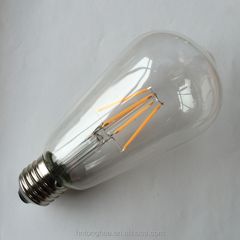Hot Sell ST64 LED Edision Light <strong>Bulb</strong> with E27 Lamp Holder 4W Vintage Filament