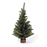 Manufacturer Price Mini Stand Pine Christmas Tree with Wood Look Base