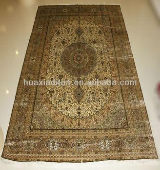 Chinese Hereke Design Handmade Silk Rug