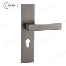 2018 Cheap Hot Sale Aluminum Door Handle Cover Plate With Lever Key Hole