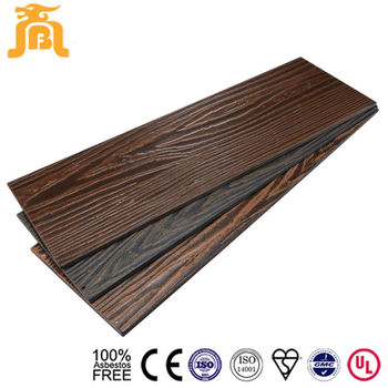 Waterproof Fireproof Fiber Cement Outdoor Wood Wall Lap Board Siding