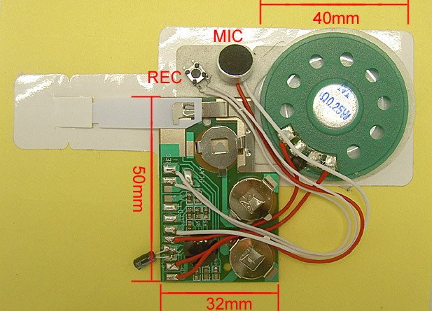Custom Greeting Card Sound Module/Digital Voice Reorder Module For Greeting Card