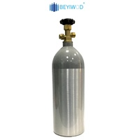 DOT3AL standard 2.5lb 5lb 10lb 15lb 20lb aluminum co2 cylinder co2 gas cylinder with CGA320 valve for beverage/beer equipment