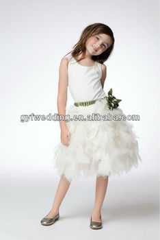 Guangzhou Elegant Small Dresses For Girls Wedding Formal Designs Flower Girl Dress Of 9 Year