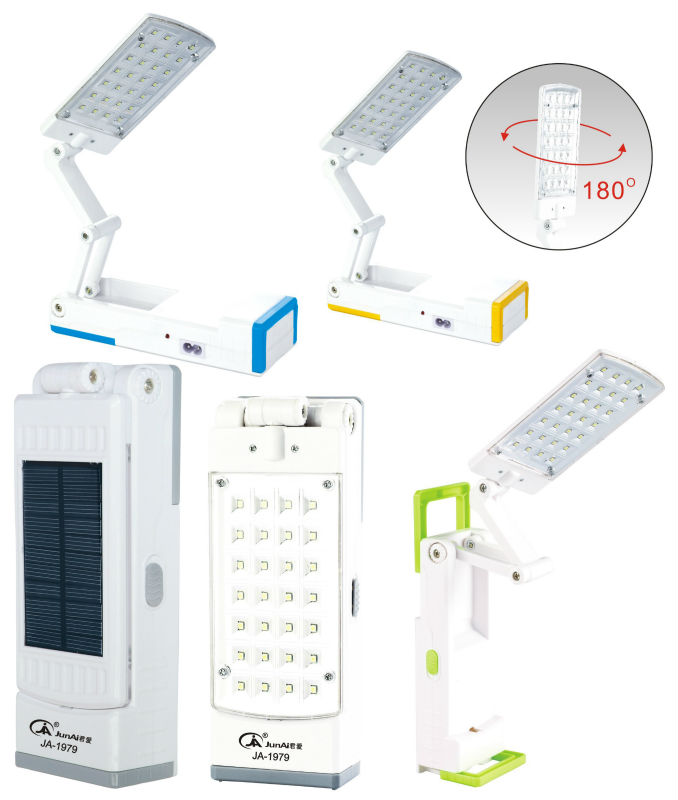 JA-1979 solar foldable led table lamp