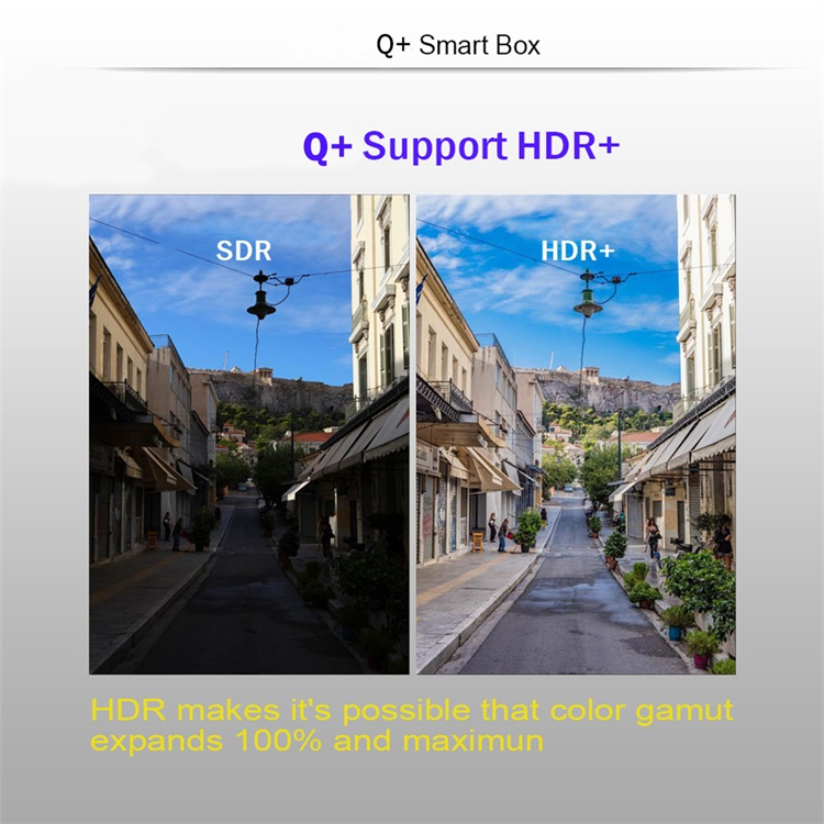 Good quality Q plus Allwinner H6 android 8.1 multimedia information box 6k ultra HD digital tv tuner decoder