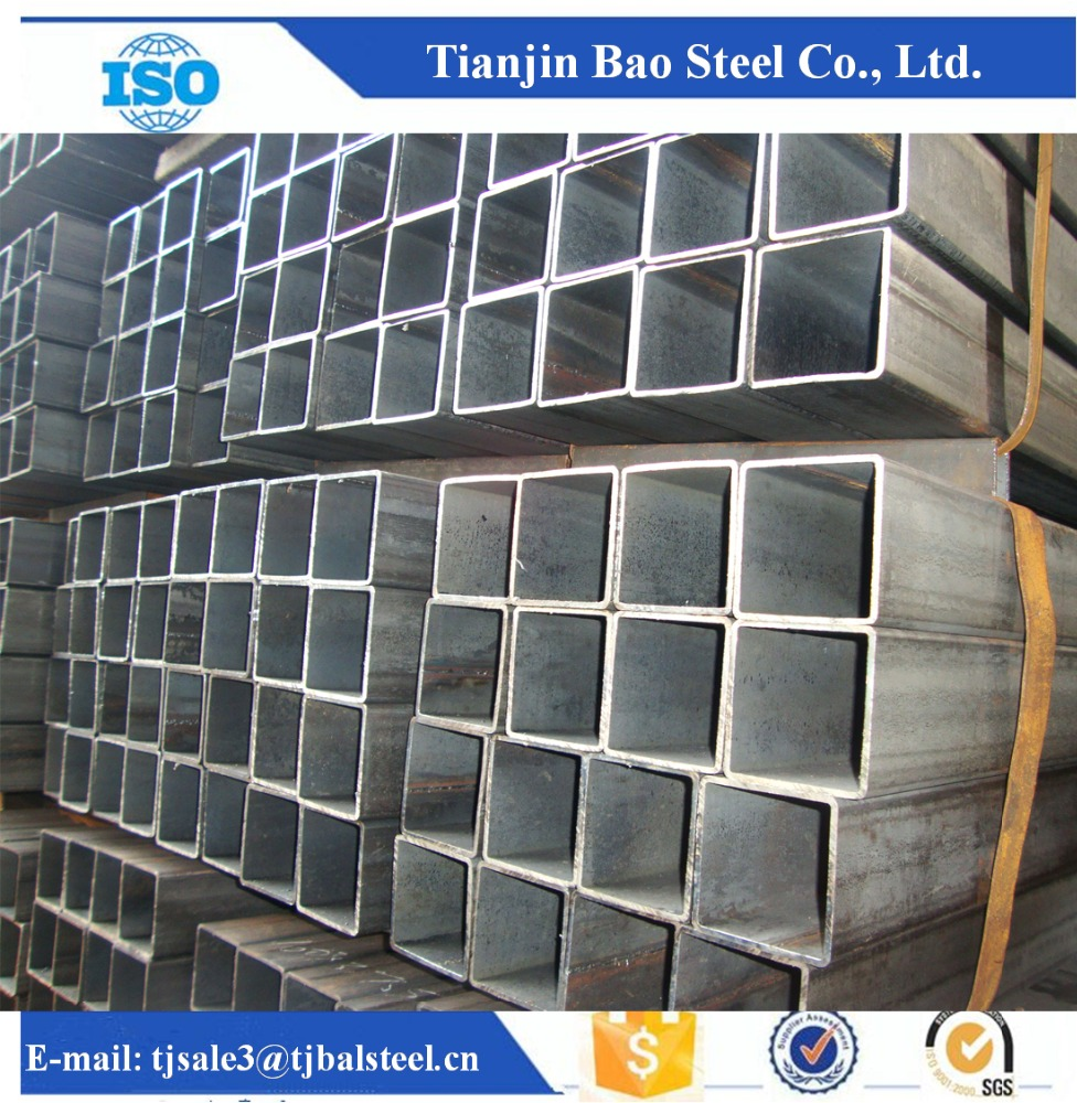150x150 Steel Square Pipe / Lowest Price Black Square Hollow Section / MS SHS for Building Construction Materials