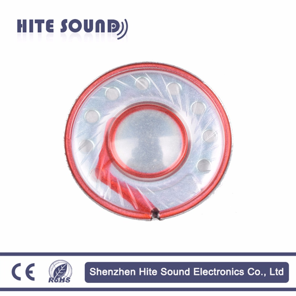 gold supplier multimedia 30mm 32ohm 10mW headphone mylar speaker