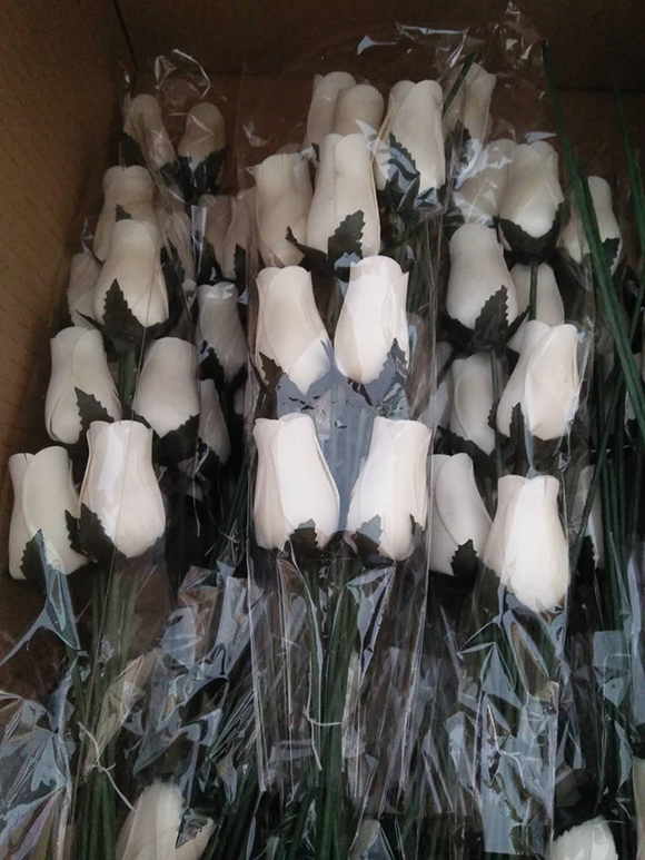 High quality Wooden flowers Single Artificial Rose Wood Flowers