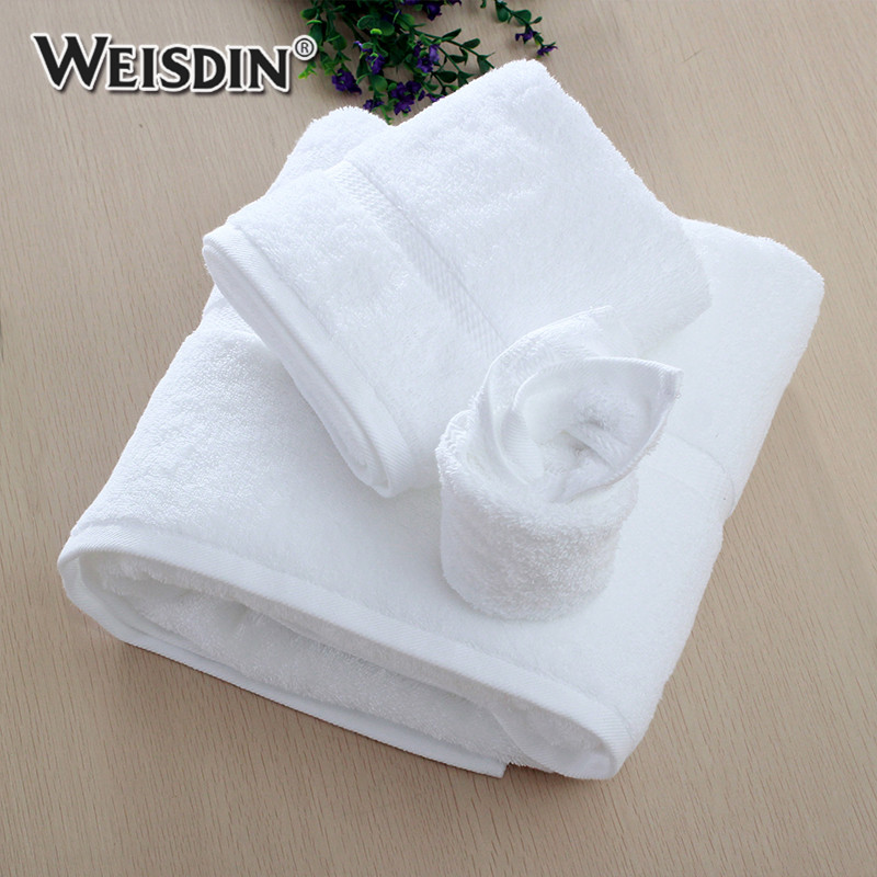 Factory custom embroidered logo16s towels bath set luxury hotel dobby terry cotton towel set