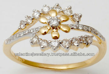 Best Price And Affordable Diamond Real Gold Ring Traditional Design
