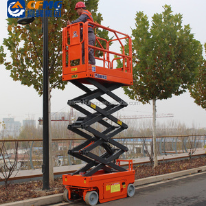 4m 6m 250kg shandong chufeng small mini platform automatic electric hydraulic drive motor scissor lift with low cost