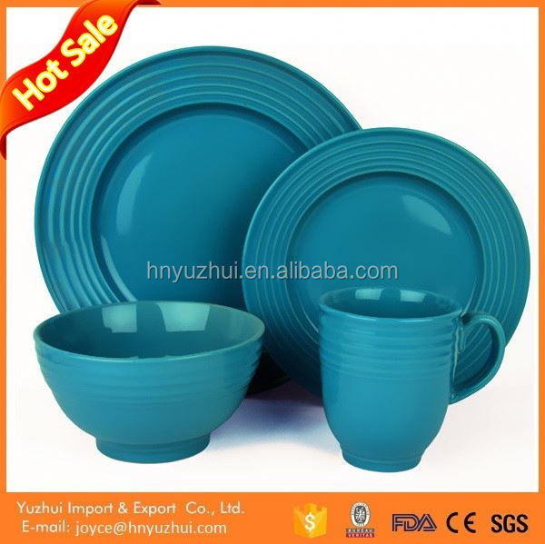 Made in China blue 16pcs dinner set for hotel