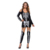 X-rayed Halloween Off-shoulder Skeleton Dress Costume Sexy Club Party Dress With Stocking