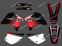 New Style (RED BLACK DST0184) TEAM GRAPHICS & BACKGROUNDS DECALS STICKERS Kits FIT FOR HONDA XR 650R 2005 2006 2007 2008 2009