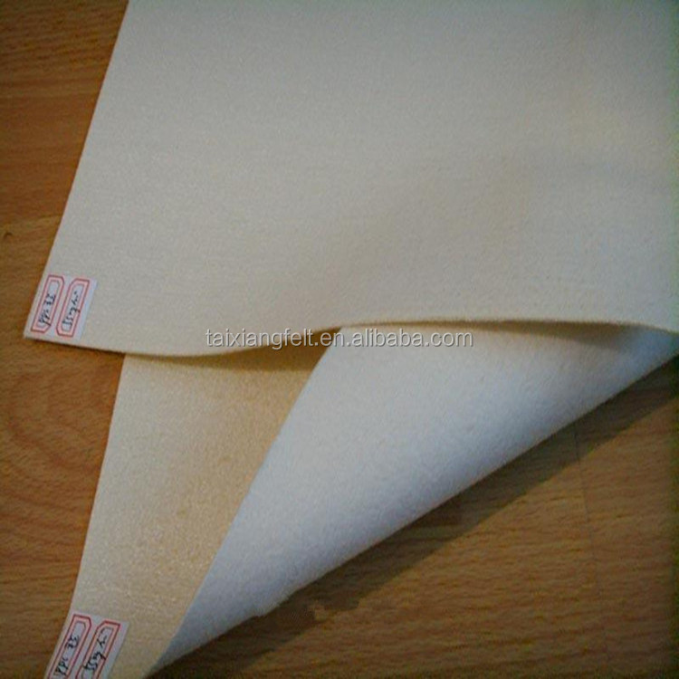 industrial felt fabric pure wool white colour