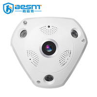 BESNT Germany hot selling fisheye 3D 1080p 360 degree WiFi panoramic view CCTV camera BS-VR360M