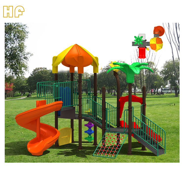 Kids toys outdoor activities play outside plastic slides for playground HF-G100D