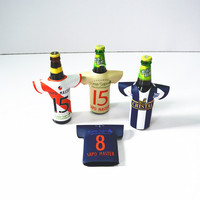 neoprene football T shirt bottle sleeve / bottle cooler holder