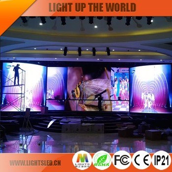 Nightclub Small Battery Powered 20Ft Wedding Background Dj Stage 3mm LED Screen Price