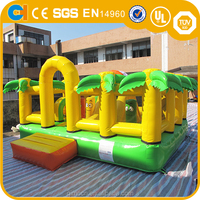 Jungle style inflatable play land bouncer,Small inflatable bounce/bouncing house for kids,Jumping/bouncy castle for sale