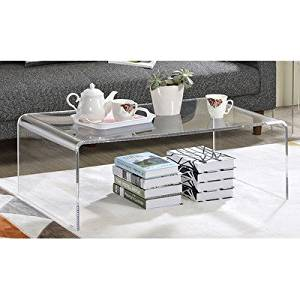 Get Quotations · Bexhill Plastic/ Acrylic Versatile Light Weight Assembled  Coffee Table