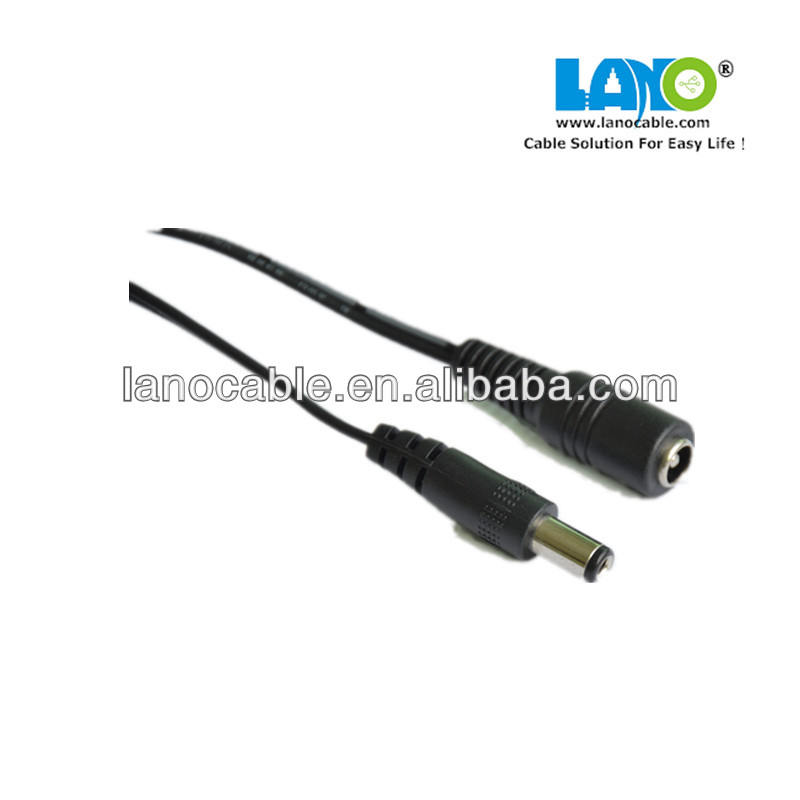 factory direct supply 5.5*2.1mm male to female dc power cable