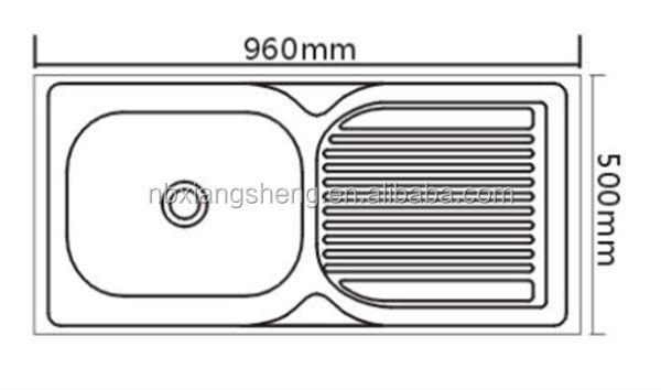 Topmount 304 Mangkuk Tunggal Sink Dengan Ukuran Kecil Stainless Steel Wastafel Dapur